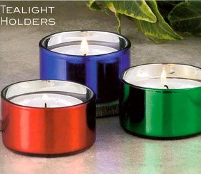 Shiny Tealight Holders - Red