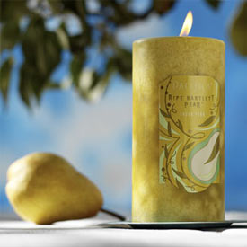 Bartlett Pear Aromatherapy Candles - Round Pillar