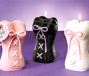 Sculpted Corset Candles - White