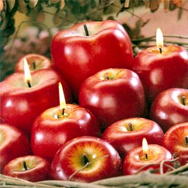 Apple Candle - Red