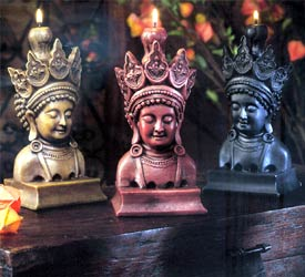 Balinese Princess Candle - Red