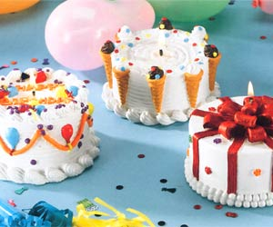 Birthday Cake Candles - Ice Cream Cone Cake
