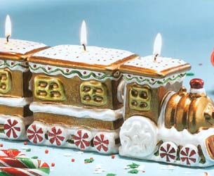 Gingerbread 3-Pc Train Candle - 3-Pc Set