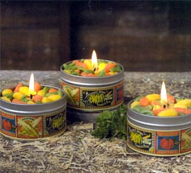 Vegetable Sprinkle Tin Candle