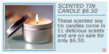 Therepe Scented Soy Tin Candles